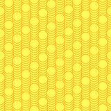 Seamless pattern scales of gold coins. Royalty Free Stock Photos