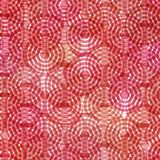 Seamless pattern scales simple abstract background with japanese wave circle pattern pastel colors on pink red burgundy background. Vector illustration Stock Photos