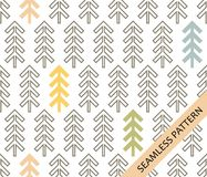 Seamless pattern in scandinavian style. Geometric spruce on a white background. vector illustration Stock Images