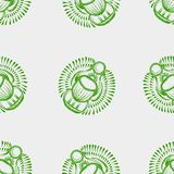 Seamless pattern scarab beetle egypt Stock Photo