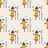 Seamless pattern with Scarecrow Halloween. vector Stock Image