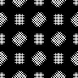 Seamless pattern with scattered fragments of grid. Black and white print. Vector illustration. vector illustration