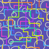 Seamless pattern from the scattered geometrical lines Royalty Free Stock Photos