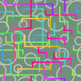 Seamless pattern from the scattered geometrical lines Royalty Free Stock Photo
