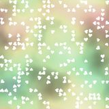 Seamless pattern with scattered hearts Royalty Free Stock Photography
