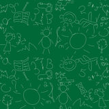 Seamless pattern on school board Royalty Free Stock Image