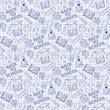 Seamless pattern with school elements Stock Images