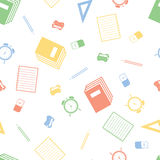 Seamless pattern with school equipment Royalty Free Stock Photography