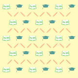 Seamless pattern with school equipment Royalty Free Stock Photo