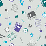 Seamless pattern with school equipment Royalty Free Stock Photos