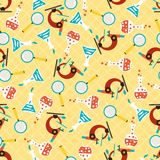 Seamless pattern with school icons Royalty Free Stock Images