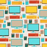 Seamless pattern with school icons Stock Photos