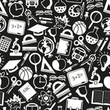 Seamless pattern school icons Royalty Free Stock Photography