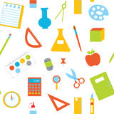 Seamless pattern with school items Royalty Free Stock Images