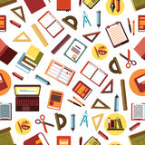 Seamless pattern of school and office supplies Royalty Free Stock Photography