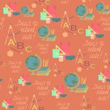 Seamless Pattern for School Sale Wrappings Royalty Free Stock Photos