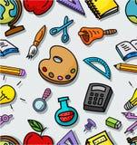 Seamless pattern with school stuffs. Illustration of Seamless pattern with school stuffs Stock Photo