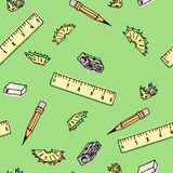 Seamless pattern school supplies Royalty Free Stock Photo