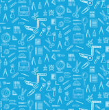 Seamless pattern with school supplies Royalty Free Stock Images
