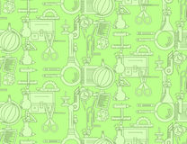 Seamless pattern with school supplies Stock Image