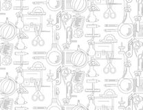 Seamless pattern with school supplies Royalty Free Stock Photography
