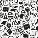 Seamless pattern on a school theme Stock Photos