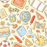 Seamless pattern with school things Royalty Free Stock Photo