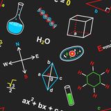 Seamless pattern with science elements Royalty Free Stock Image