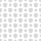 Seamless pattern science and technology vector background Royalty Free Stock Images