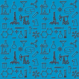 Seamless pattern of scientific icons Royalty Free Stock Photo
