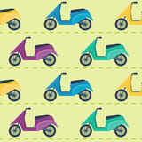 Seamless pattern with scooters Stock Photos