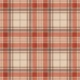 Seamless pattern Scottish tartan, red, black and  yellow Royalty Free Stock Photography