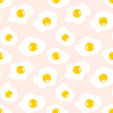 Seamless pattern with scrambled eggs Stock Photography