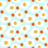 Seamless pattern with scrambled eggs Royalty Free Stock Image