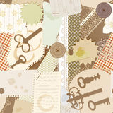 Seamless pattern with scrapbook design elements Royalty Free Stock Photography