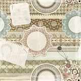Seamless pattern, scrapbook elements Stock Photography