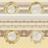 Seamless pattern with scrapbook elements Stock Images