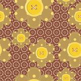 seamless pattern with scrapbook flowers Royalty Free Stock Image