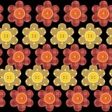 Seamless pattern with scrapbook flowers Royalty Free Stock Images