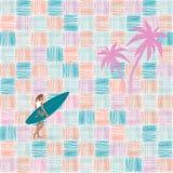 Pattern background - Flamingos royalty free illustration