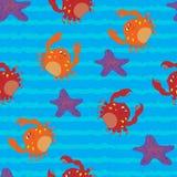 Seamless pattern with sea animals. Illustration with sea cute animals stock illustration