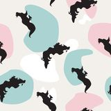 Seamless pattern Sea dragon on colorful spots, vector eps 10 royalty free illustration