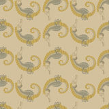 Seamless pattern. sea horse. Royalty Free Stock Photos