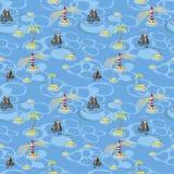 Seamless pattern of sea Stock Photos