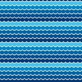 Seamless pattern sea or ocean. vector Stock Photos