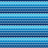 Seamless pattern sea or ocean. vector Royalty Free Stock Photo