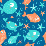 Seamless pattern from sea Stock Photos