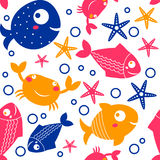 Seamless pattern from sea Stock Photo