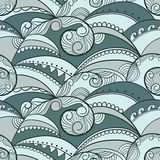 Seamless pattern with sea waves Royalty Free Stock Photography