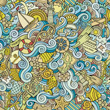 Seamless pattern sealife and marine Stock Images